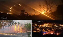 Giornata da incubo, l'intera provincia di Siracusa nella morsa del fuoco
