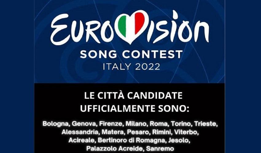 Palazzolo tra le 17 città italiane candidate a ospitare l'Eurovision 2022
