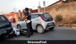 Siracusa, incidente in via Elorina: ferito un motociclista