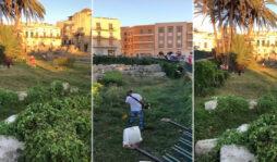 Siracusa, via erbacce e rifiuti dal Tempio di Apollo: volontari al lavoro