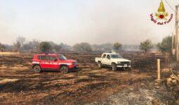 Incendio a Canicattini, minacciate abitazioni e aziende agricole