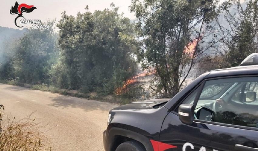 Incendio sui monti Iblei: denunciato un imprenditore siracusano