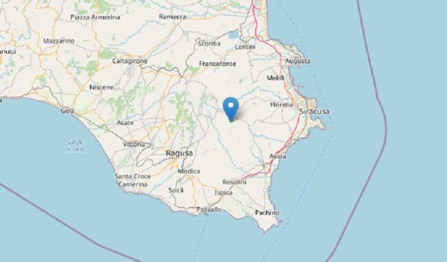 Scossa di terremoto di magnitudo 2.8 a Palazzolo Acreide