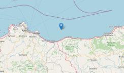 Scossa di terremoto di magnitudo 4.3 in mare nel Palermitano