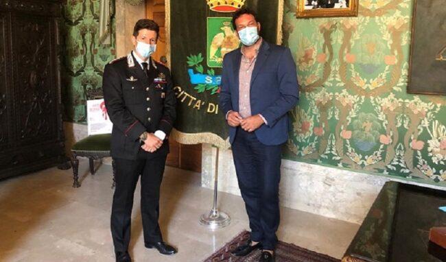 Il sindaco Italia incontra il nuovo comandante provinciale dei Carabinieri