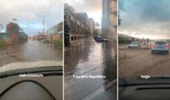 Strade allagate e città in ginocchio dopo violento temporale a Siracusa