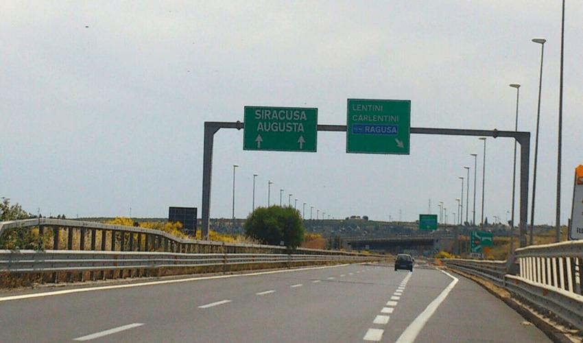 Chiusa l'autostrada Catania-Siracusa per 5 ore al giorno da domani a giovedì