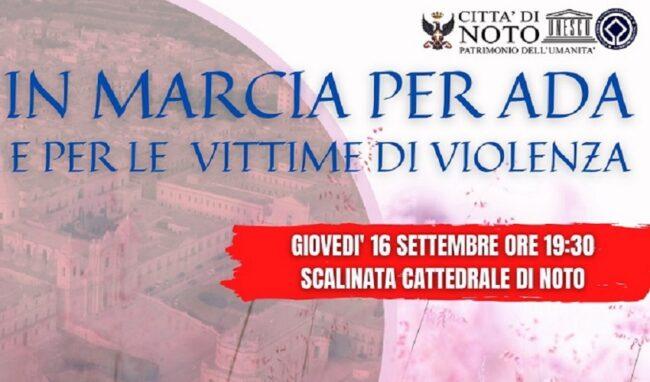 Fiaccolata statica a Noto per ricordare Ada Rotini e le vittime di femminicidio