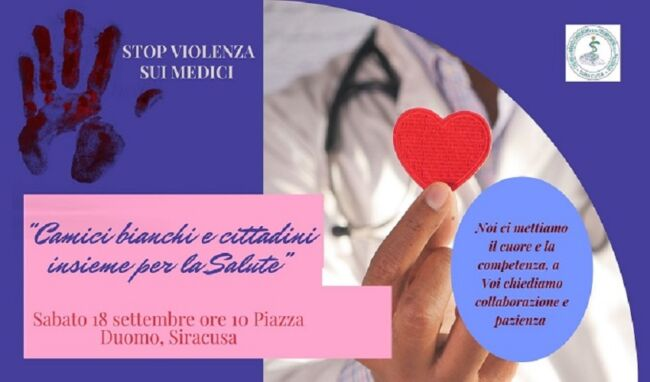 Aggressioni ai medici, sabato camici bianchi in piazza Duomo