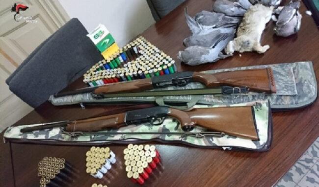 A caccia nonostante la sospensione: 4 denunciati a Lentini