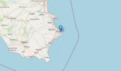 Scossa di terremoto di magnitudo 2.6 sulla costa siracusana