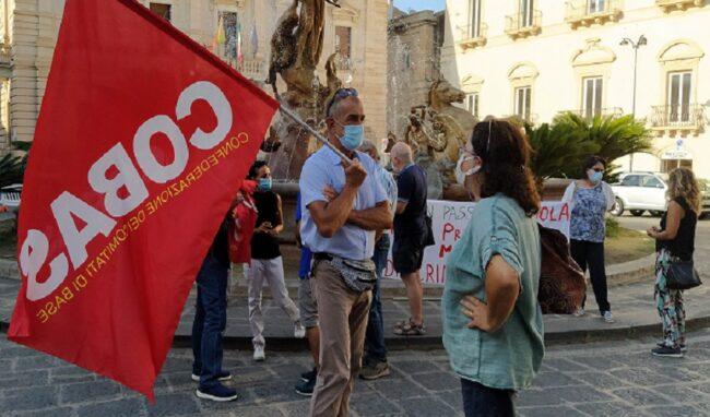 Lunedì 11 ottobre sciopero generale Cobas, a Siracusa presidio al Tempio di Apollo