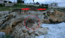 Crolla una parte del costone sottostante il Monumento ai Caduti: area interdetta