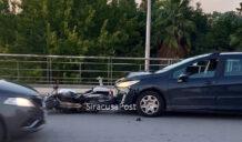 Incidente in viale Paolo Orsi: coinvolte 2 auto e una moto