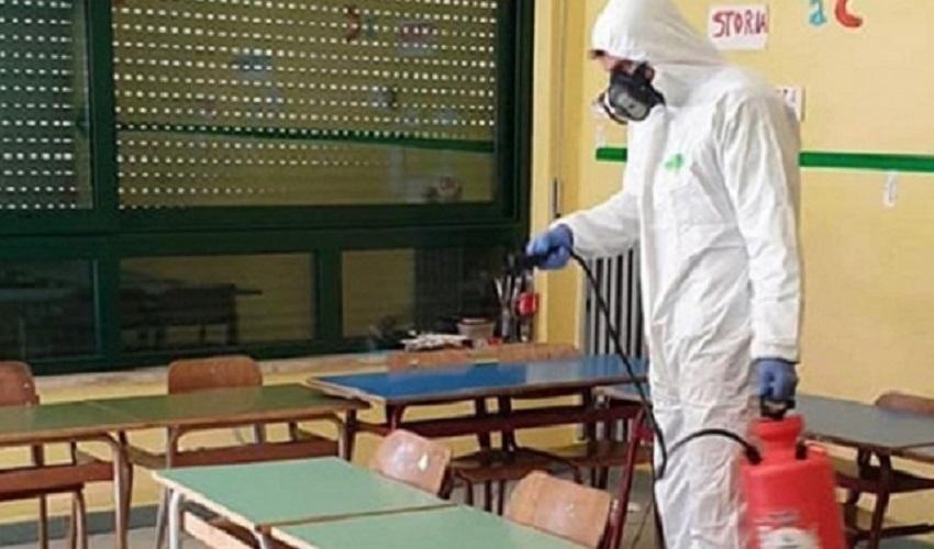 Sanificazione straordinaria di tutti i plessi scolastici di Melilli, Villasmundo e Città Giardino