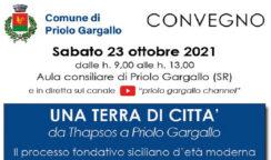 Convegno sul processo fondativo siciliano a Priolo