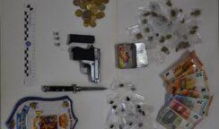 In possesso di droga, soldi e di una pistola: arrestati 2 siracusani