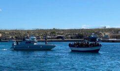 Migranti, 14 sbarchi a Lampedusa