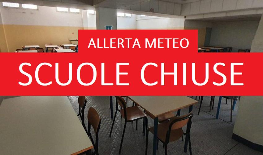 Allerta meteo rossa per martedì 26 ottobre, ancora scuole chiuse