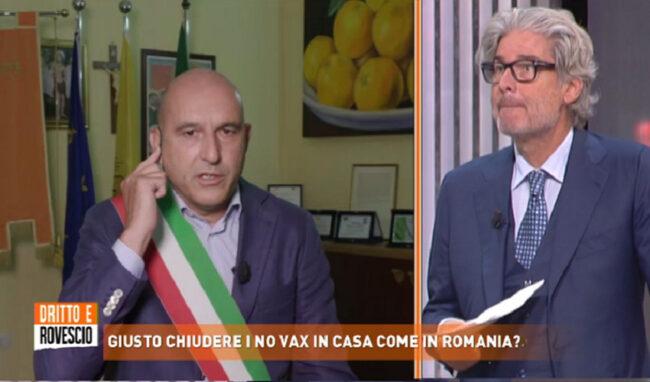 """Francofonte e la zona arancione a """"Diritto e Rovescio"""": """"Il vaccino è l'arma migliore?"""""""